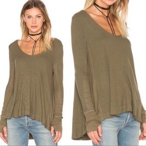 Free People Malibu Thermal Olive Green